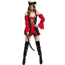 carnaval kigurumi újévi ruházat party pub színpad szerepet viselő ruha nő kalóz jelmez