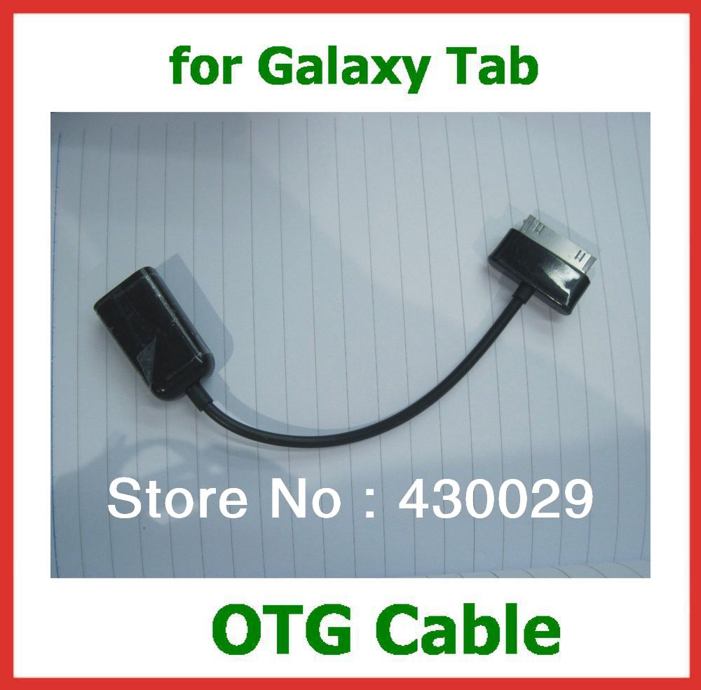 USB Host OTG Cable Connection Adapter for Galaxy Tab 10.1 P7510 P7500 P5100 P5110 N8000 N8010 P3100 Galaxy Note Free Shipping