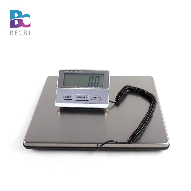 BECBI 440LB/200 кг Smart цифровые весы тяжелых доставка Почтовый Вес, UPS USPS почтовое отделение Почтовый шкале Чемодан масштаба