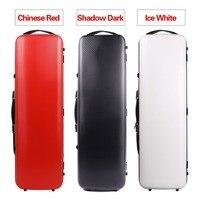 Yinfente 4/4 Violin Case Carbon Fiber High strength load bearing 200KG Black White Red Black Code lock Oblong Case