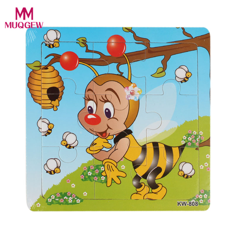 2019 new Hot selling Children Wooden Animal Jigsaw Toys Educational Kids Puzzles Toy Jigsaw Puzzle Brinquedos Lowest price#520