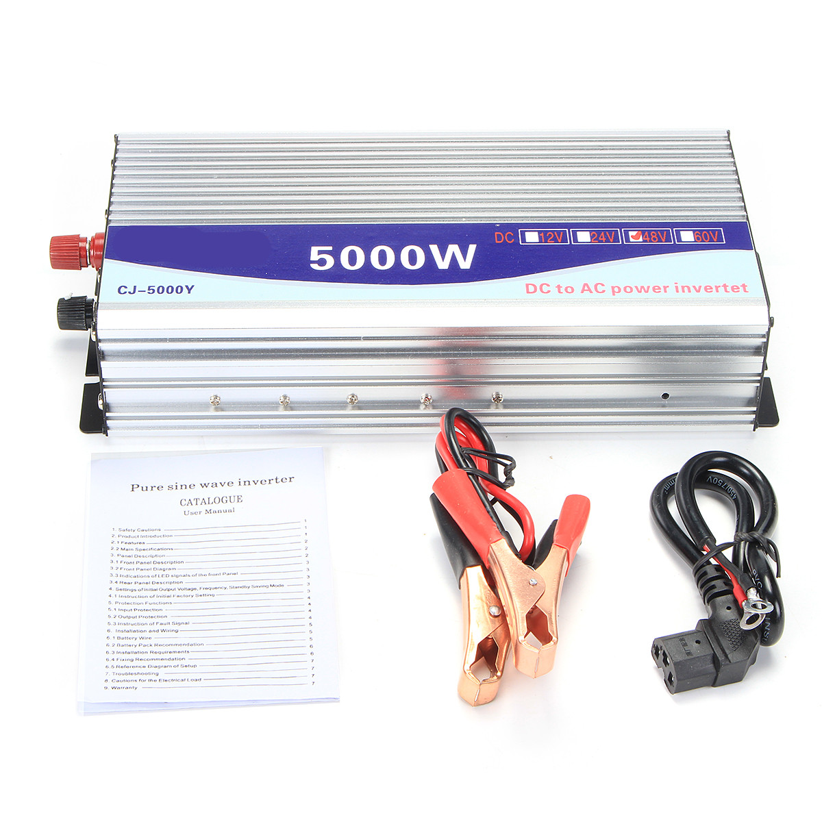 small resolution of 10000w dc 48v to ac 120v 60hz converter modified sine wave power inverter with lcd display in inverters converters from home improvement on aliexpress com