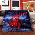 Romanée 2016 Moda Otoño/Invierno patrón de Dibujos Animados Spiderman Coral mantas de lana para Los Niños puede ser hoja de cama de la lanza suave
