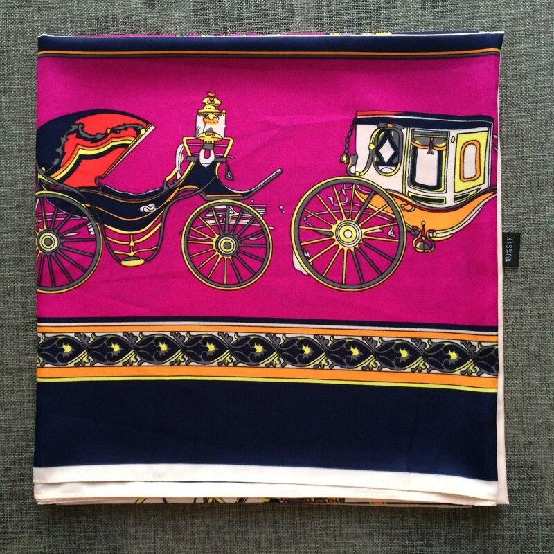 Royal Horse Car Silk Scarf Brand Women Ss