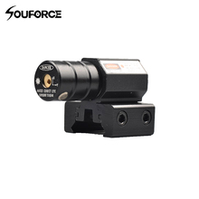 Tactische Rode laser Pointer Sight met Laser Golflengte 835-655mm Gun Rifle Pistool Sight Verstelbare 11mm 20mm Picatinny Rail