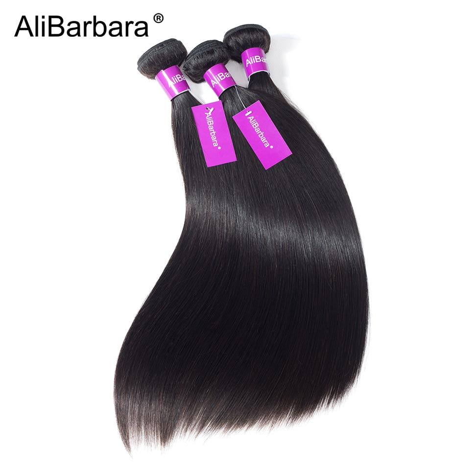 HTB1u4wCUzTpK1RjSZKPq6y3UpXau Alibarbara Brazilian Straight Hair With Closure 4*4 5*5 6*6 Free Middle Part Closure with Bundle Remy Human Hair Bundles With Cl