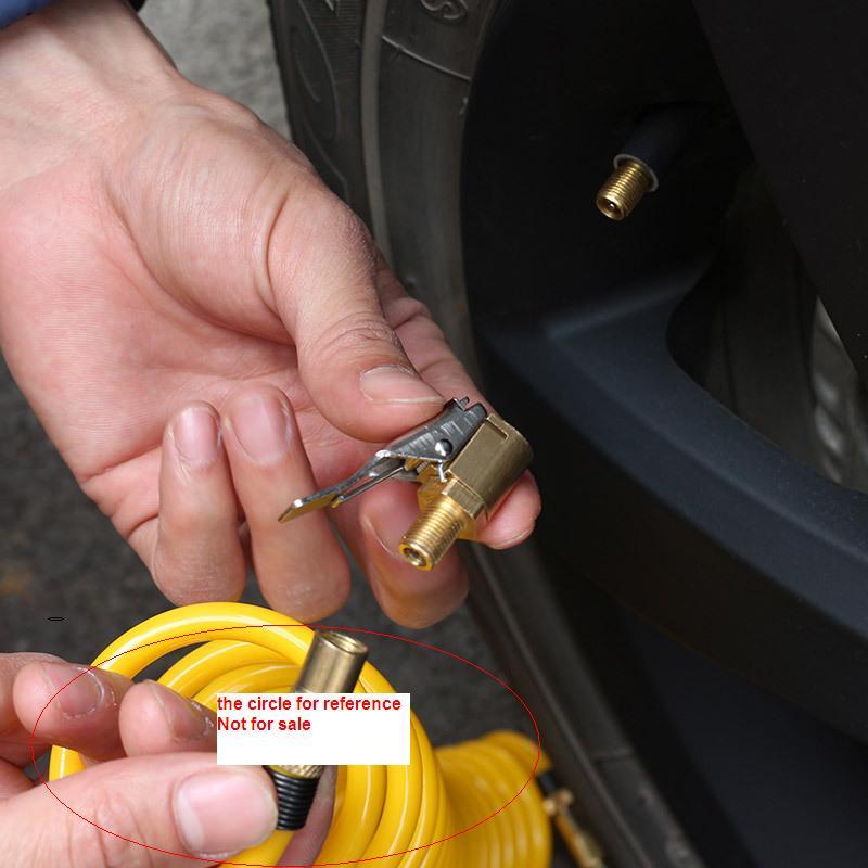 Авто автомобиль воздушный компрессор насос разъемом быстрого соединения Клапан рот на шины для всех типов двойное/одноцилиндровый Шин инф... ...