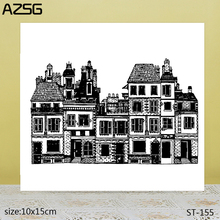 AZSG ancient architecture Clear Stamps/Seals For scrapbooking DIY Card Making/Album Silicone Decoration crafts