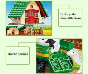 Image 3 - 8579 541 Pcs Banbao Happy Farm Building Block Toys 8579 Farmer Kids Educational Toys Gift DIY Bricks Compatible With Toys