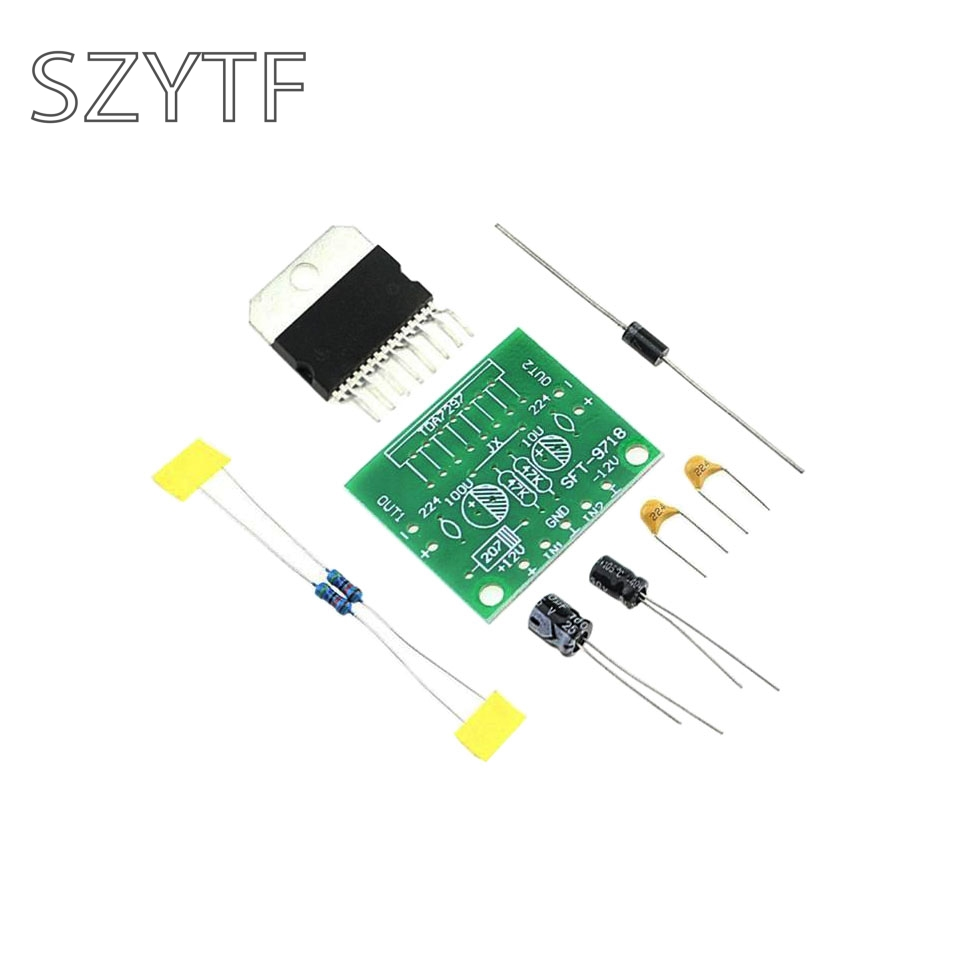 TDA7297 12V pure DC power amplifier board parts level after 2 15W+15W dual chann