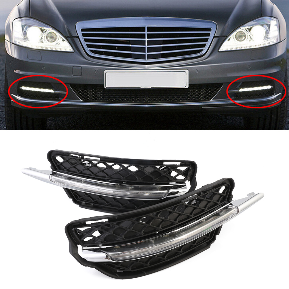 Auto Car LED Daytime Running Light White DRL Daylight Fog Lights For Benz W221 S300 S500 S350 S600 09-12 10 D35 chinese calligraphy brushes pen with weasel hair art painting supplies artist painting calligraphy pen