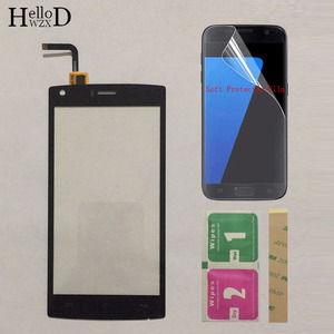 Image 1 - Mobie Touch Screen For Doogee X5 Max \ X5 Max Pro Touch Screen Glass Digitizer Glass Panel Touch Screen 5.0 inch Protector Film