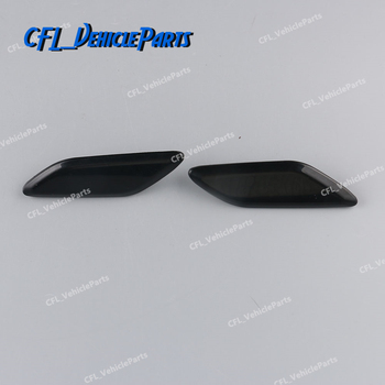 Pair or Left or Right Front Headlight Washer Covers Caps Lid Hole Unpainted For Mazda 3 AXELA 2014-2016 BKC6-51-8H1 BKC6-51-8G1 image