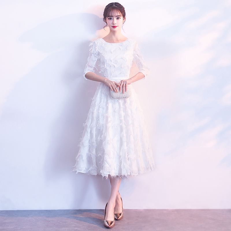 Young Lady Evening Dresses Vestido De Festa Prom Dresses 2018 Tea
