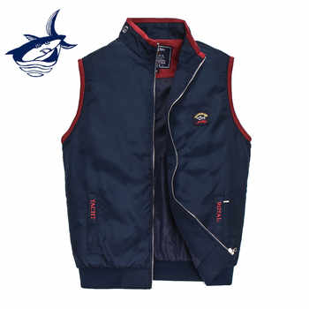 Fashion Brand Tace & Shark Vest Men colete masculino inverno Casual Letter Embroidery Stand Collar Waistcoat Sleeveless Jacket - DISCOUNT ITEM  47% OFF All Category