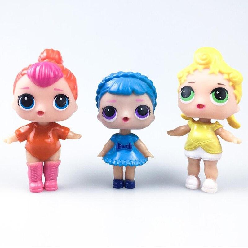 3 հատ / լոտ տիկնիկներ LoL Փաթաթվող - Խաղային արձանիկներ - Լուսանկար 2