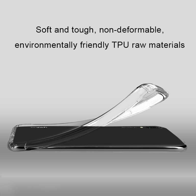Cristal silicone tpu telefone caso para huawei y9 y7 y6 prime y6 pro 2019 à prova de choque airbag capa para huawei y5 y7 prime y9 2018