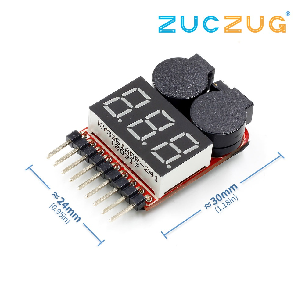 Venom Low Voltage Alarm RC Monitor for 2S to 8S LiPo Batteries LCD Meter Checker