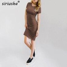 ФОТО nqz032 women short sleeve comfortable pleasantly cool 4colors dress summer simple o-neck buttocks pencil ordinary dress nqz032
