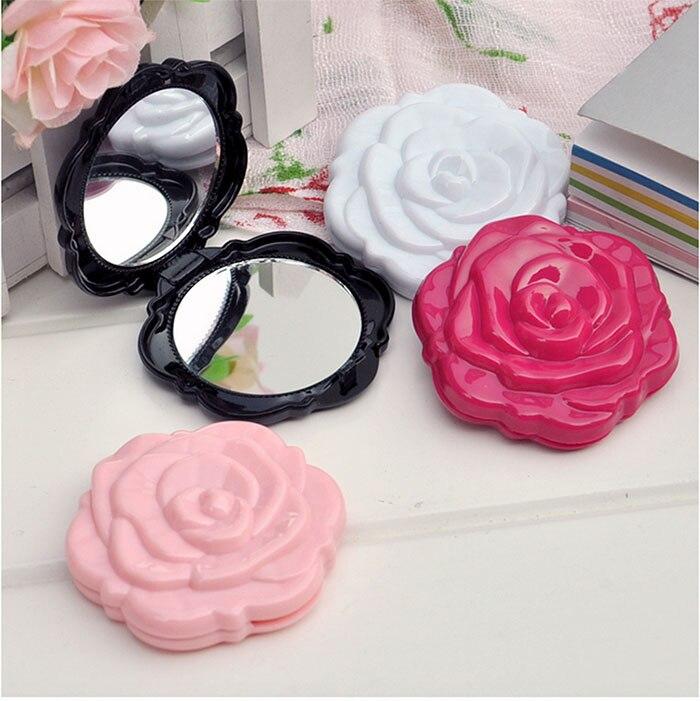 d208819a00fc 1 Pcs Vintage Roses Pliable Femmes Miroir De Poche Chic Rétro Maquillage  Miroirs Portable Cosmétique Compact Miroir De Fleur (Couleur Aléatoire)