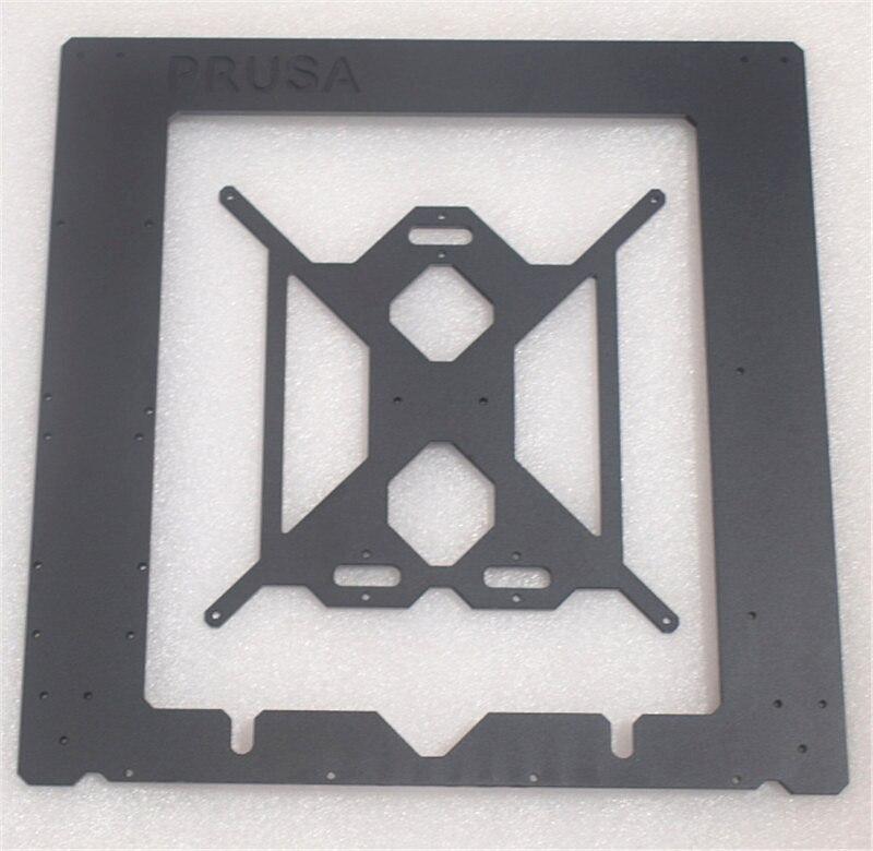 Reprap Prusa i3 MK2 Clone aluminum Single frame +heating bed 6mm thickness black color CNC made geeetech prusa i3 a pro 3d printer all aluminum frame high precision lcd12864 impressora reprap with power control box