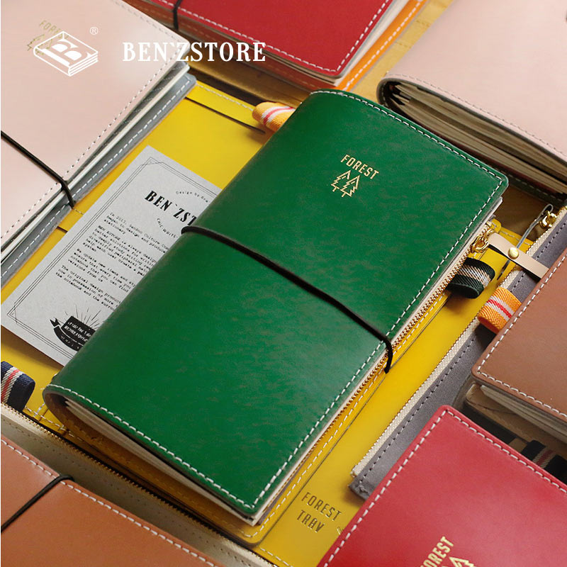 2019 New Arrive Yiwi 125X218MM Standard Travel Notebook FOREST TRAV Diary Recyclable Material Cover Planner