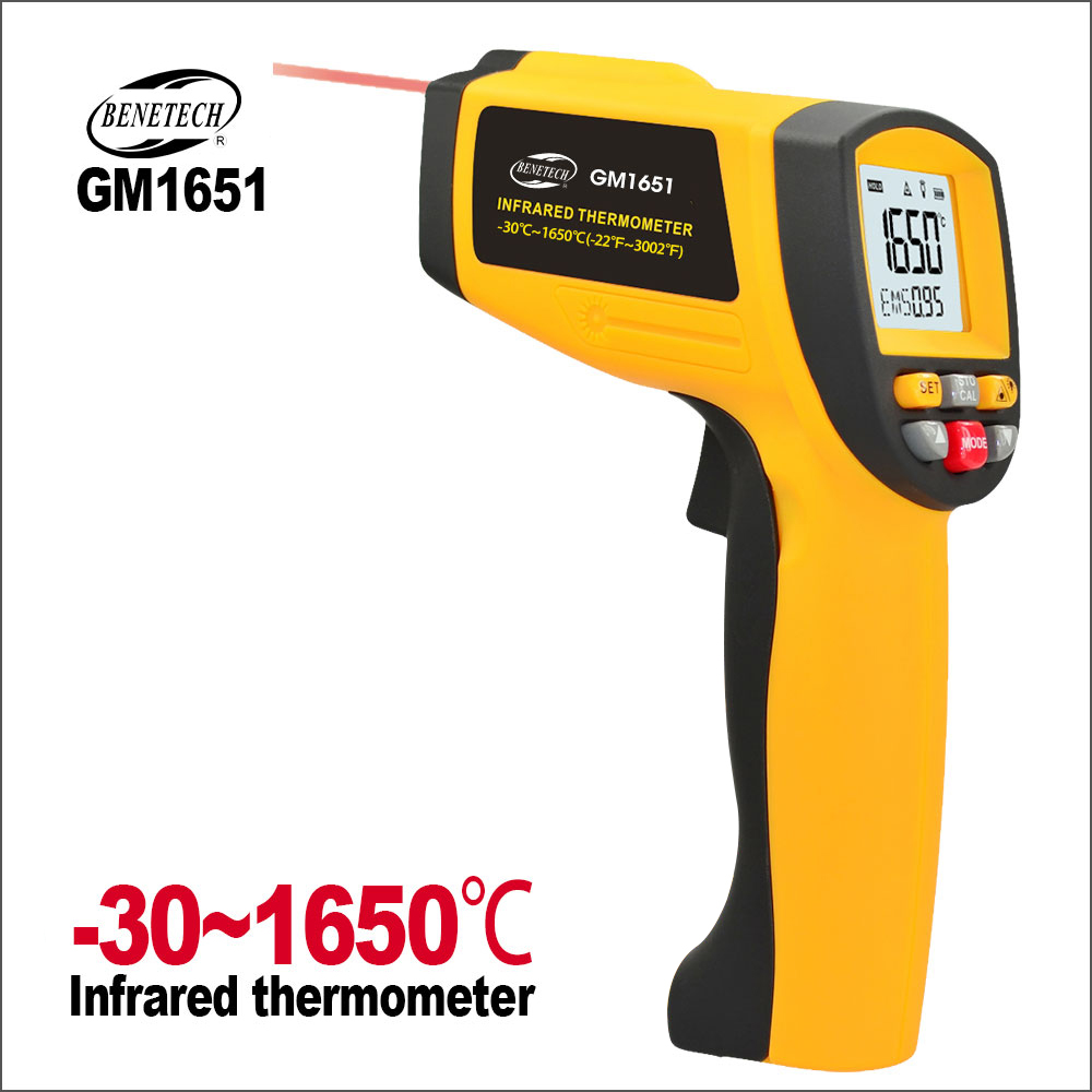 BENETECH Infrared Thermometer Non-Contact IR Infrared Digital Temperature -30~1650C Electronic Laser Thermometer HygrometerBENETECH Infrared Thermometer Non-Contact IR Infrared Digital Temperature -30~1650C Electronic Laser Thermometer Hygrometer