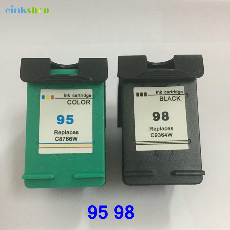 2pcs For HP 95 98 Ink cartridge for HP95 hp Cartridge Officejet 100 150 400 H470 6300 6310xi printer ink HP98