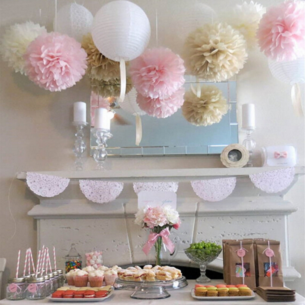 5pcs tissue paper flower pom pom rose ball 15 25cm hanging paper 5pcs tissue paper flower pom pom rose ball 15 25cm hanging paper garland baby shower wedding party decoration craft diy supplies in artificial dried mightylinksfo