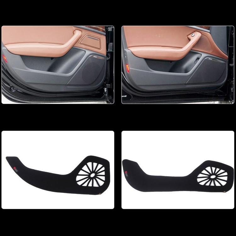 Ipoboo 4pcs Fabric Door Protection Mats Anti-kick Decorative Pads For Audi A6L 2012-2015 ipoboo 4pcs fabric door protection mats anti kick decorative pads for hyundai elantra 2012 2015
