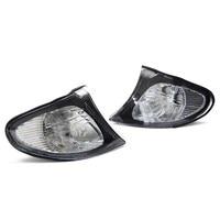 2Pcs Corner Lights Side Turn Signals Lamps Sidelights For BMW E46 3 Series 4DR 2002 2005