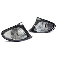 2Pcs Corner Lights Side Turn Signals Lamps Sidelights For BMW E46 3 Series 4DR 2002 2005