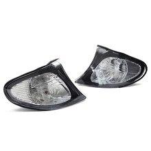 2Pcs Corner Lights Side Turn Signals Lamps Sidelights For BMW E46 3-Series 4DR 2002-2005 325i 330i Clear Lens