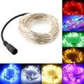100 Luces Led 10 m Hadas LightsLED Micro Alambre de Plata Espléndida Boda de Hadas Cadena Fiesta de Navidad Luz 12 V Patio Luces de cadena