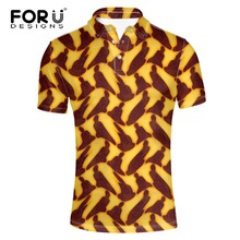 FORUDESIGNS  Shirt Top Quality Fashion Men Short Sleeve Turn-down Collar Polos Hombre Mens Casual Loose African Print POLO