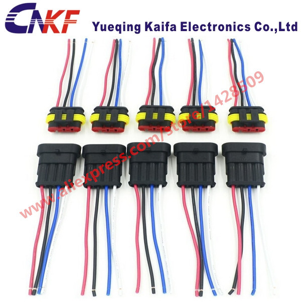 1 set 1 5 series 4 pin waterproof electrical automotive wiring rh aliexpress com automotive wiring harness pigtail connectors Dodge Automotive Wiring Harness Connectors