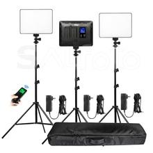 لوحة إضاءة فيديو LED ثنائية اللون من Viltrox VL 200T + مجموعة حامل VL 200 3300 5600k 30W مجموعة إضاءة تعبئة الصور اللاسلكية عن بعد