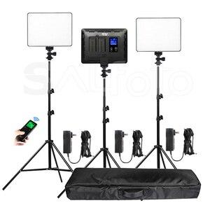 Image 1 - Viltrox Panel de luz de vídeo LED, delgado de doble color VL 200T, Kit de soporte VL 200 3300 5600k 30W, juego de iluminación de relleno de fotos remoto inalámbrico