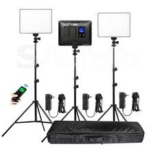 Viltrox VL 200T bi color magro led painel de luz de vídeo + kit de suporte VL 200 3300 5600k 30 w remoto sem fio photo fill iluminação conjunto