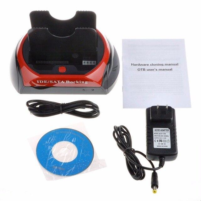 UE Conveniente 2.5 Pulgadas 3.5 Pulgadas IDE SATA USB 2.0 Dual Base de Disco Duro HDD Disco Duro Estación De Acoplamiento Puede