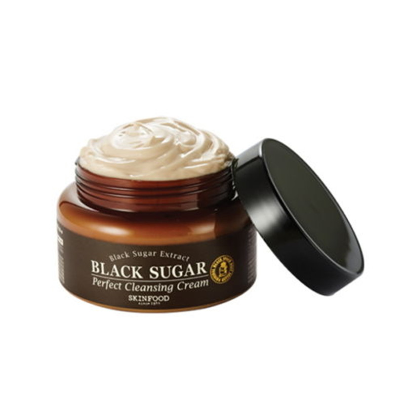 SkinFood Black Sugar Perfect Cleansing Cream 230ml Exfoliation Cleansing Skin Korean Skin Care маска skinfood black sugar strawberry mask 100 г