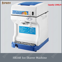 HK168 electric cube ice shaver crusher machine for commercial kitchen ice shaving equipment 120KG/H automatic shaved ice maker