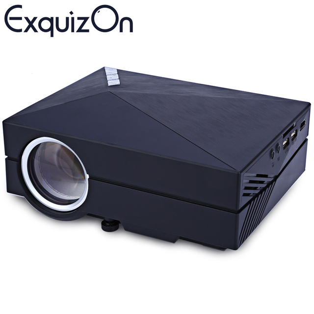 Hot GM60A MINI  LED Projector Support Miracast/Airplay with HDMI/AV/SD/VGA For Games/TV/Movie Fashion Designed Proyector