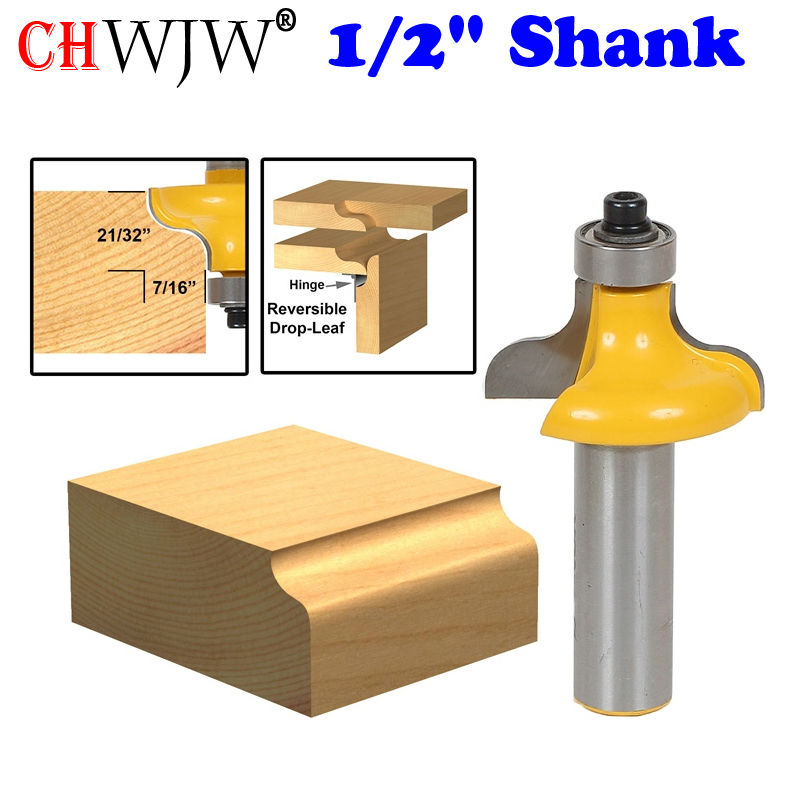 1Pc Table Edge Router Bit - Wavy 1/2