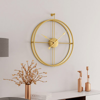 Large Brief European Style Silent Wall Clock Modern Design Home Office Decorative Hanging Wall Watch Clocks For Hot Gift