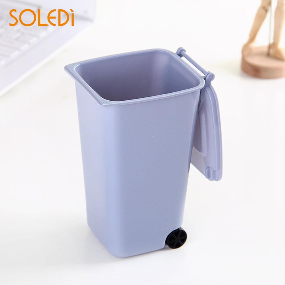 Wheelie Trash Can Creative Plastic Small Scissors 10*8*15.5cm Dust Dustbin Garbage Markers
