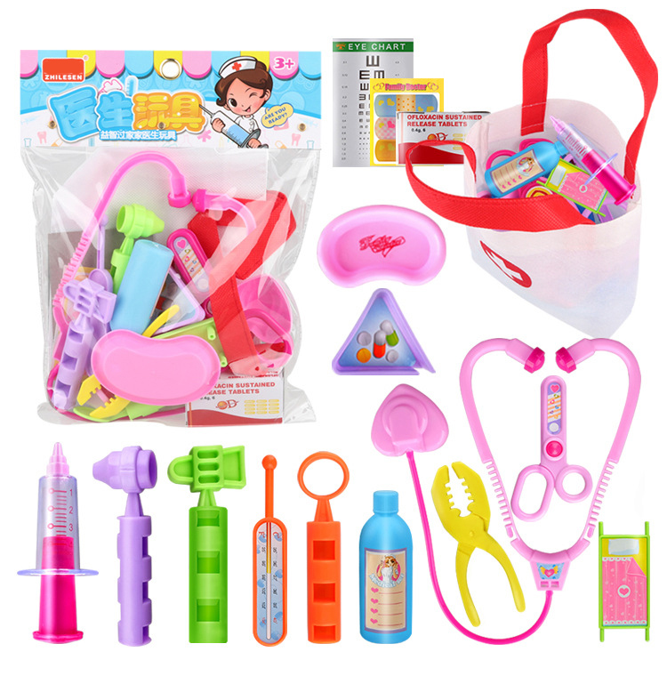 Children Pretend Play Puzzle Simulation Doctor Toy Set for Girls Boys.