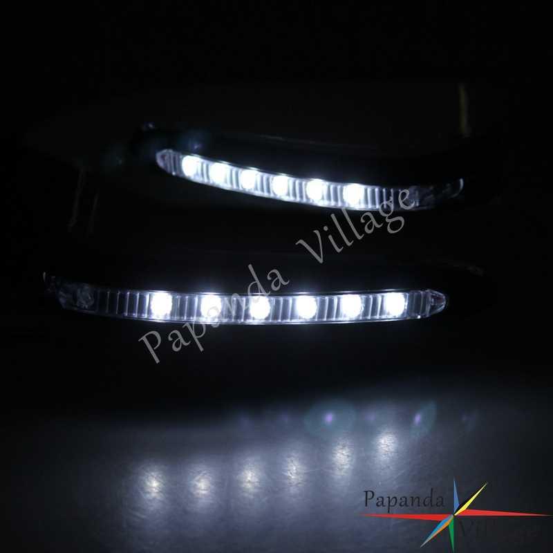 """Papanda Xe Máy Xanh 7/8 """"22mm Tay Cầm Handguard Tấm Bảo Vệ có ĐÈN LED LED Tín Hiệu cho Kawasaki KLX 250 450 KX125"""