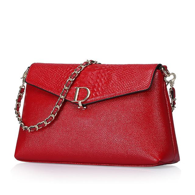 Brand Serpentine Genuine Leather Women Bag Real Cowhide Chain Shoulder Bags Female Fashion Messenger Bag For Teenage Girls 2017