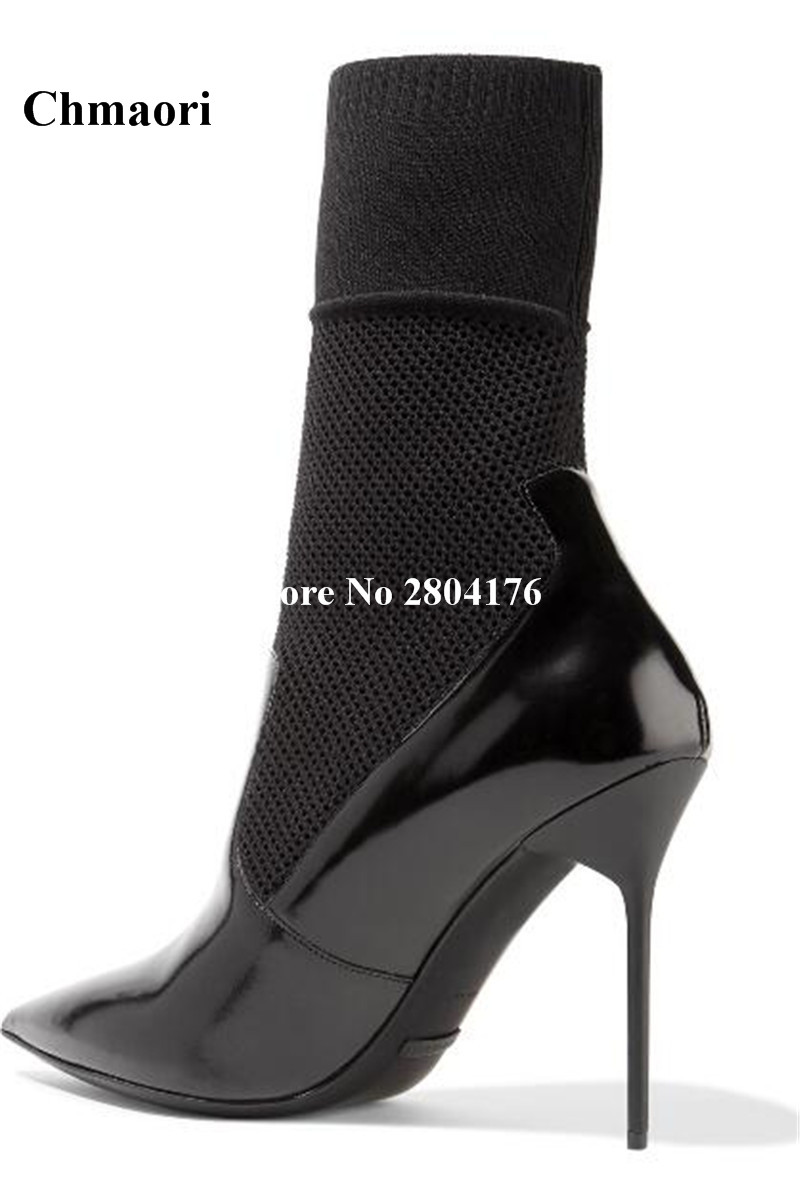 2017 Spring Autumn  Women 's Hpt Selling Super High Ankle Boots Casual Thin Heel Shoes Pointed Black Elastic Pointed Toe Shoes tama hp910 7s super spring only